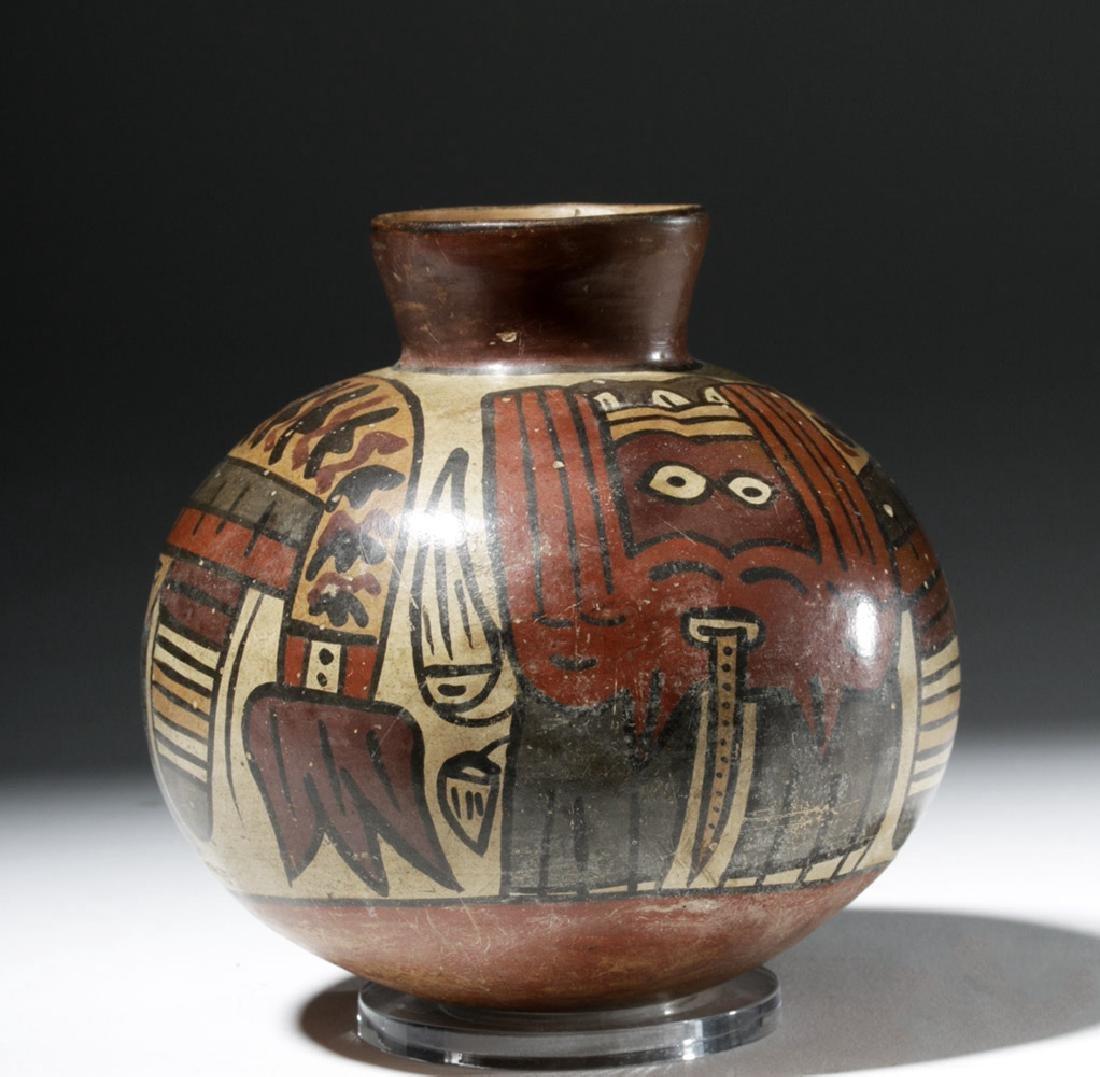 Attractive Nazca Pottery Polychrome Olla
