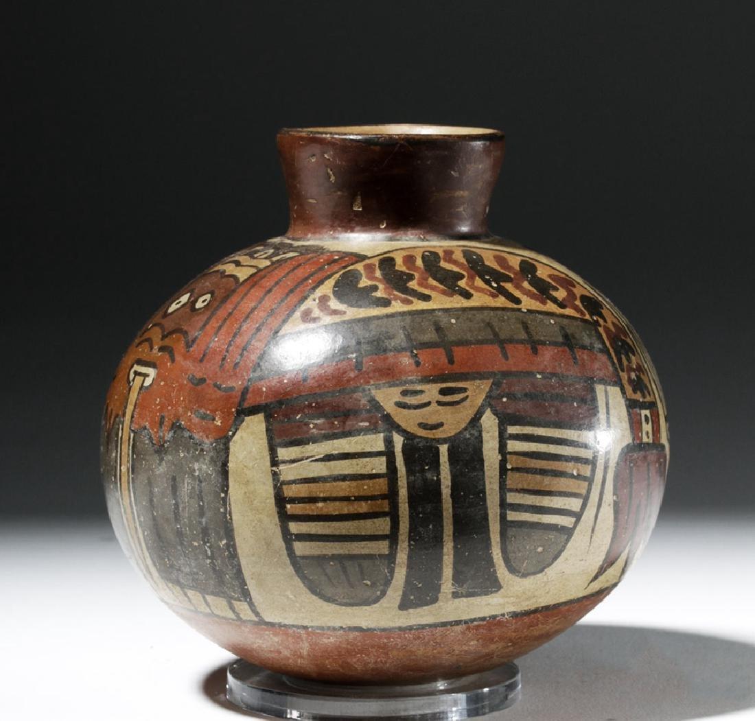 Attractive Nazca Pottery Polychrome Olla - 3