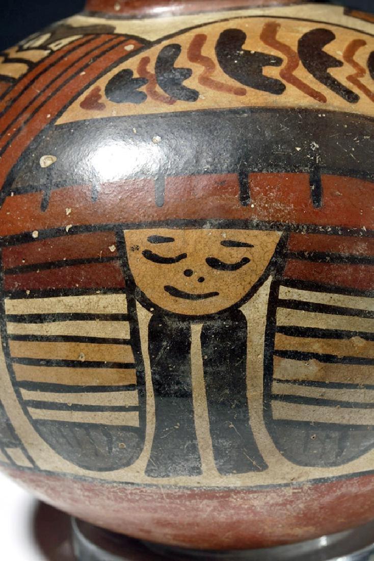 Attractive Nazca Pottery Polychrome Olla - 5