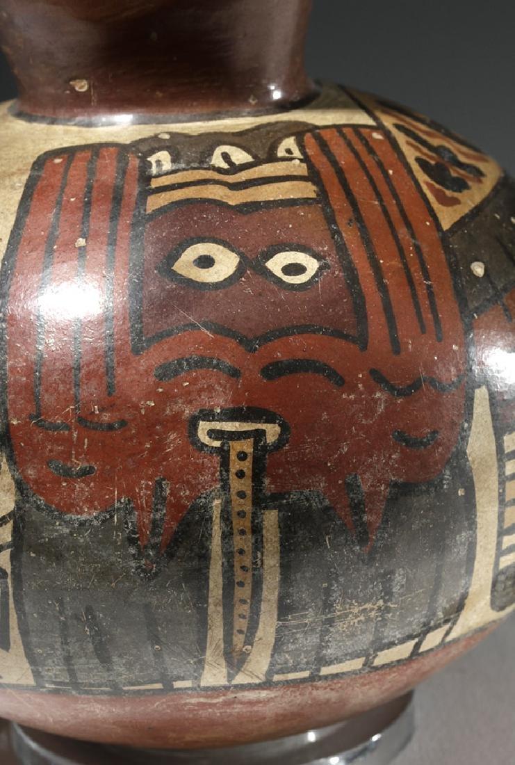 Attractive Nazca Pottery Polychrome Olla - 6