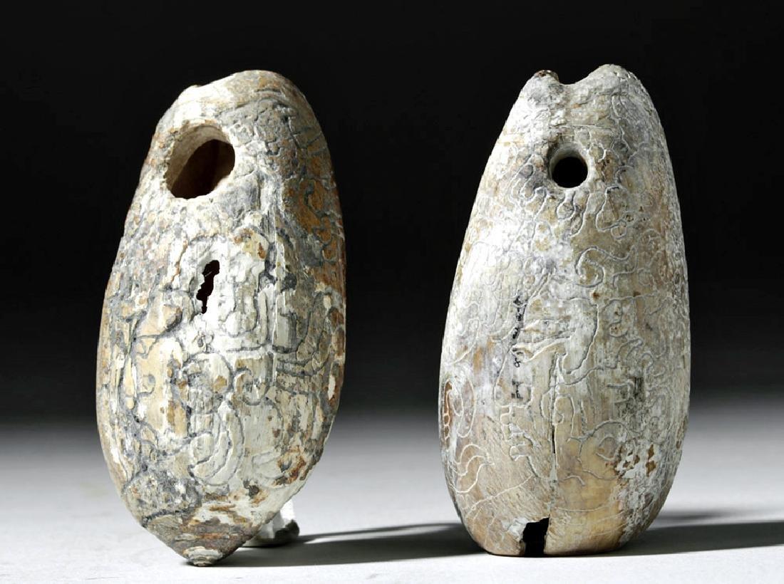 Pre-Columbian Mayan Carved Shells (pr) - 3