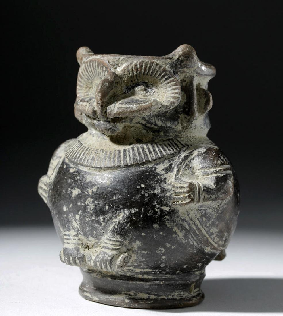 Tairona Blackware Owl / Shaman Effigy Jar