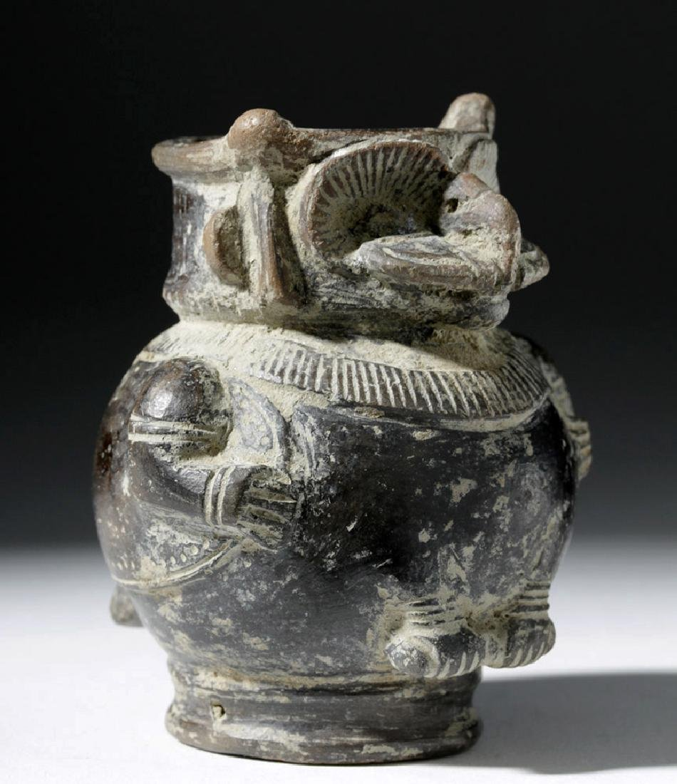 Tairona Blackware Owl / Shaman Effigy Jar - 4