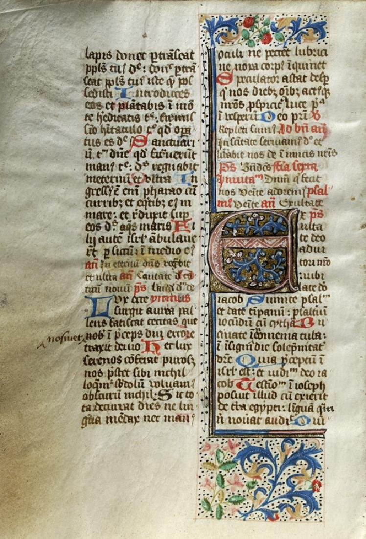 Three 15th C. Illuminated Book of Hours Pages - 2