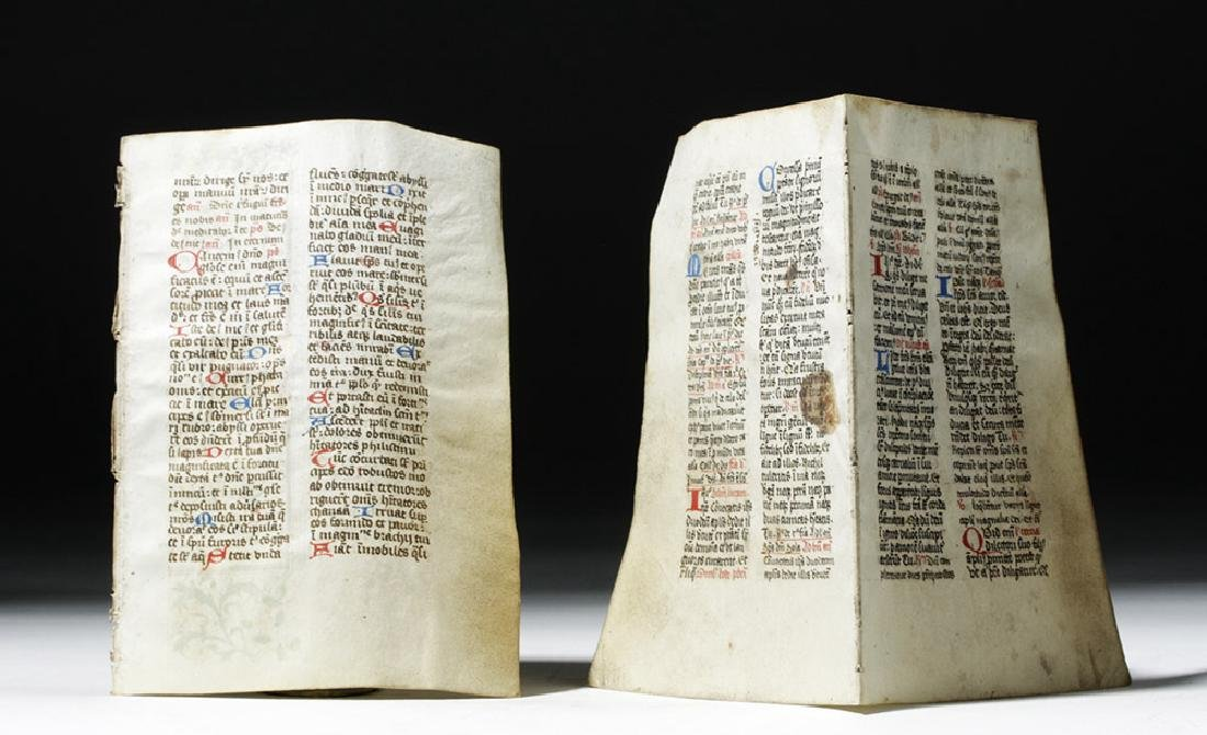 Three 15th C. Illuminated Book of Hours Pages - 5