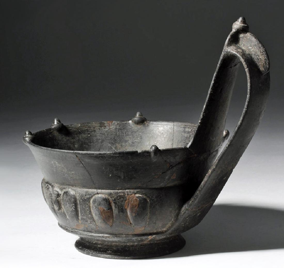 Etruscan Bucchero Pesante Kyathos - 2