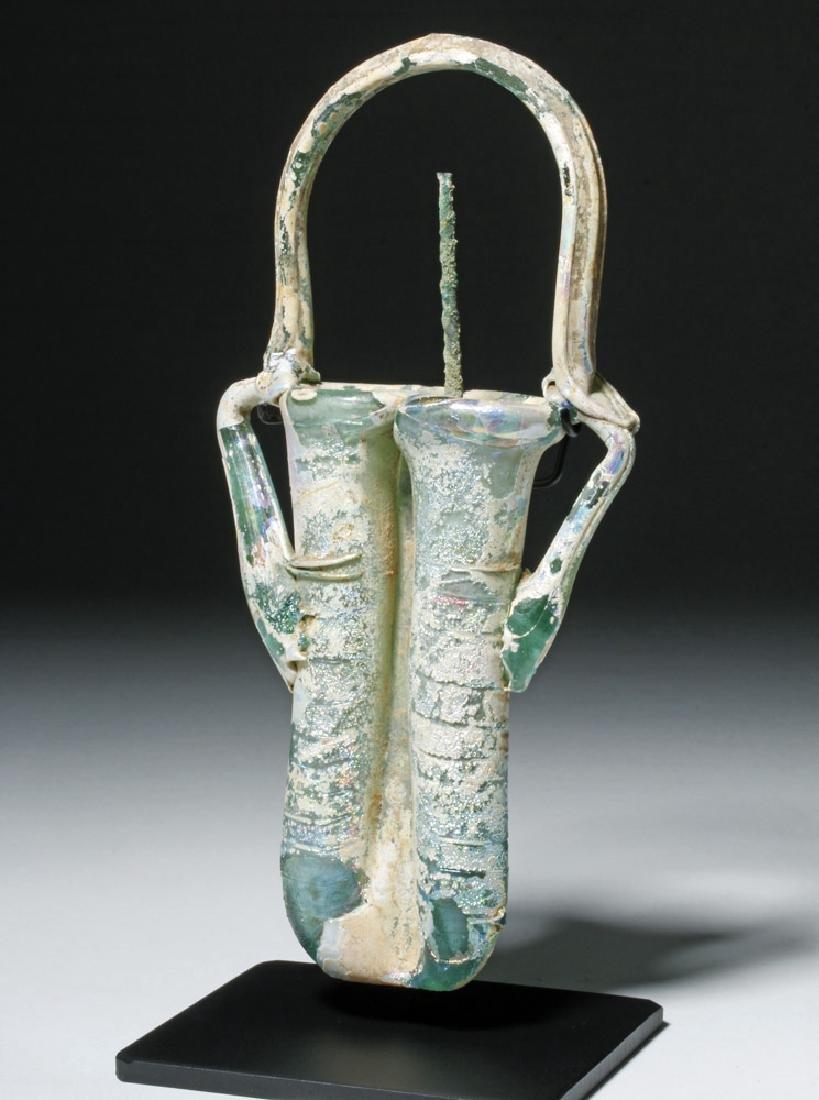 Roman Glass Double Unguent w/ Applicator