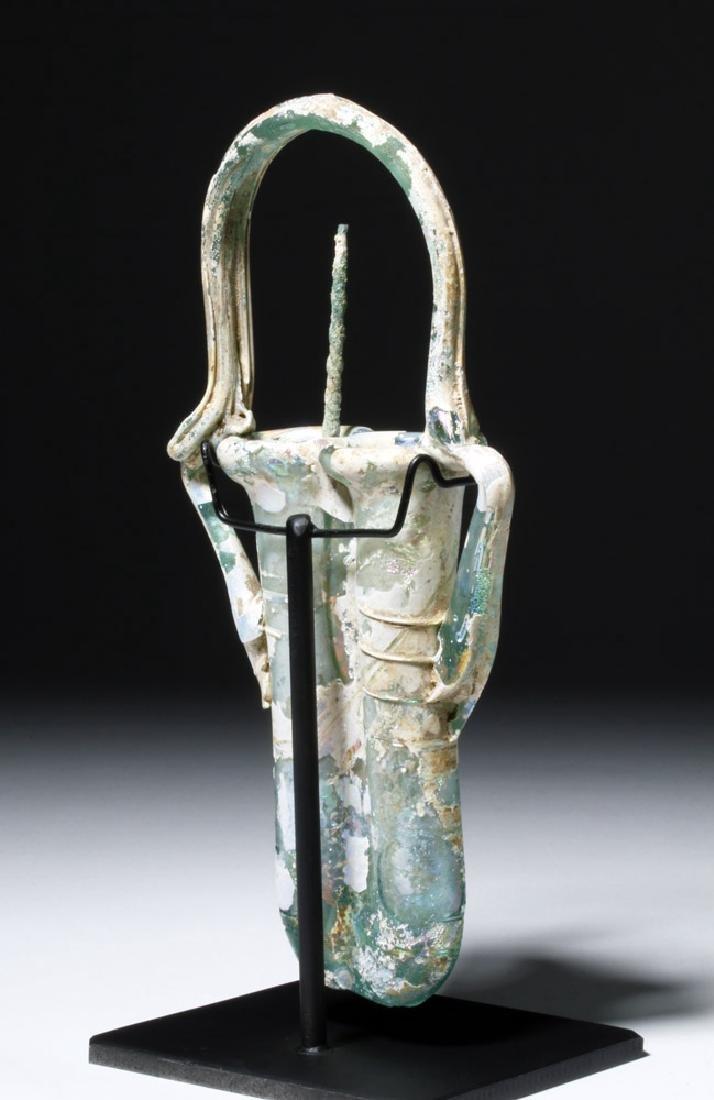 Roman Glass Double Unguent w/ Applicator - 3