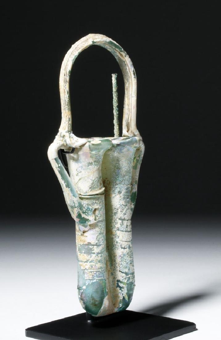 Roman Glass Double Unguent w/ Applicator - 4