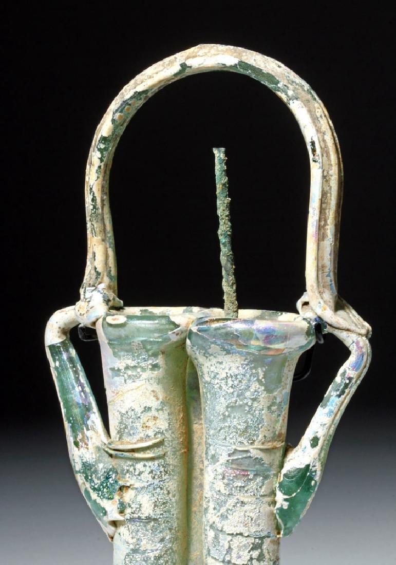 Roman Glass Double Unguent w/ Applicator - 5