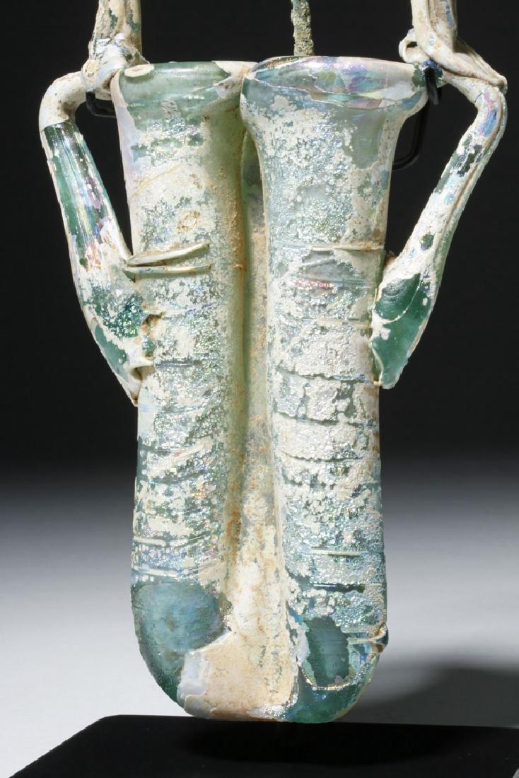 Roman Glass Double Unguent w/ Applicator - 6