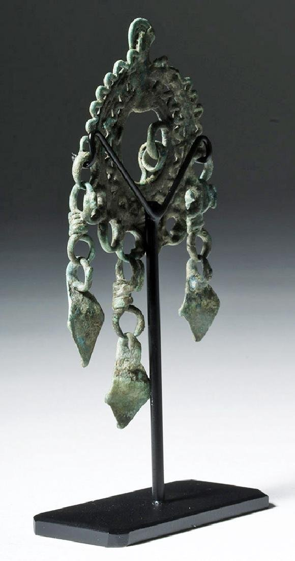 9th C. Siberian Bronze Pendant - Rustling Crow Feet - 2