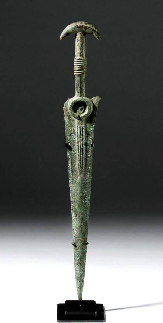 Luristan Bronze Sword with Crescent Pommel