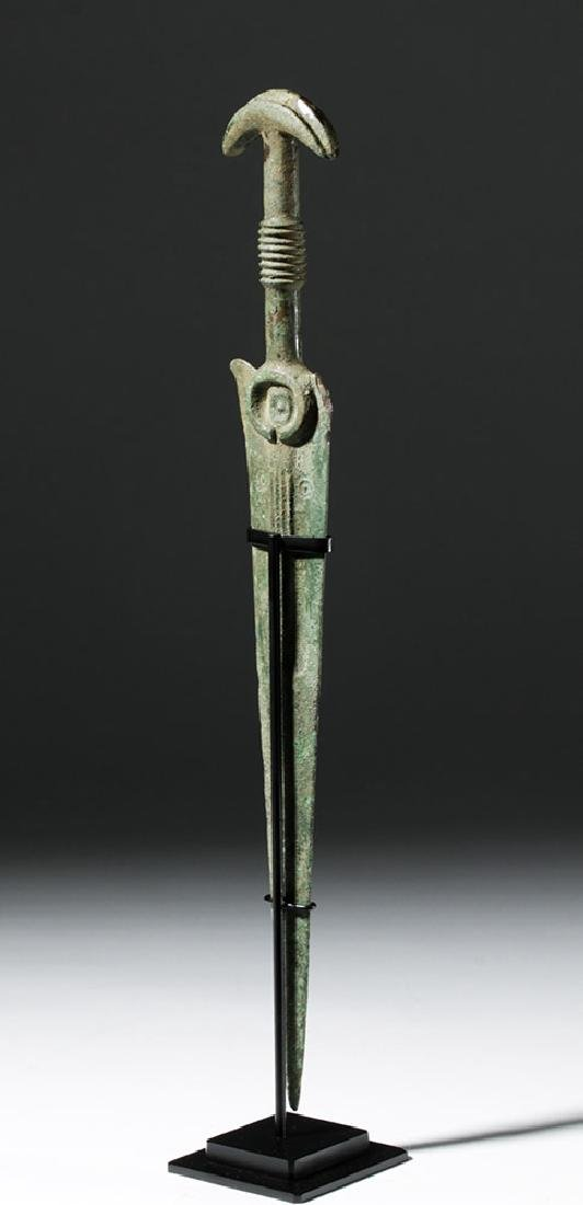 Luristan Bronze Sword with Crescent Pommel - 2
