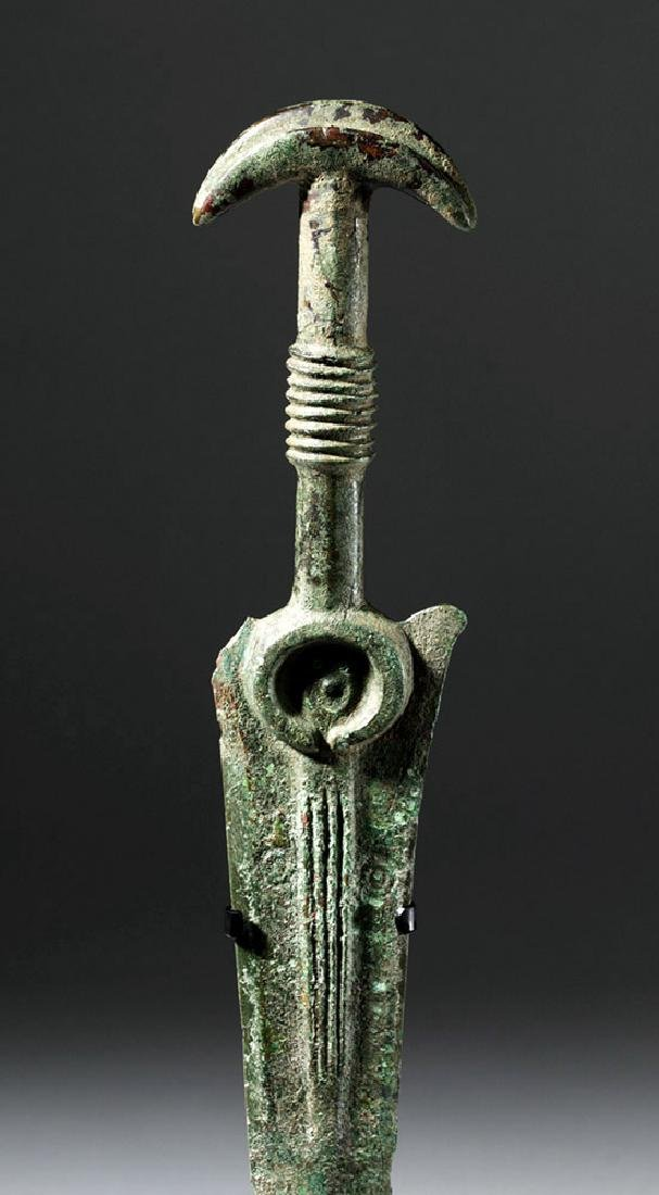 Luristan Bronze Sword with Crescent Pommel - 5