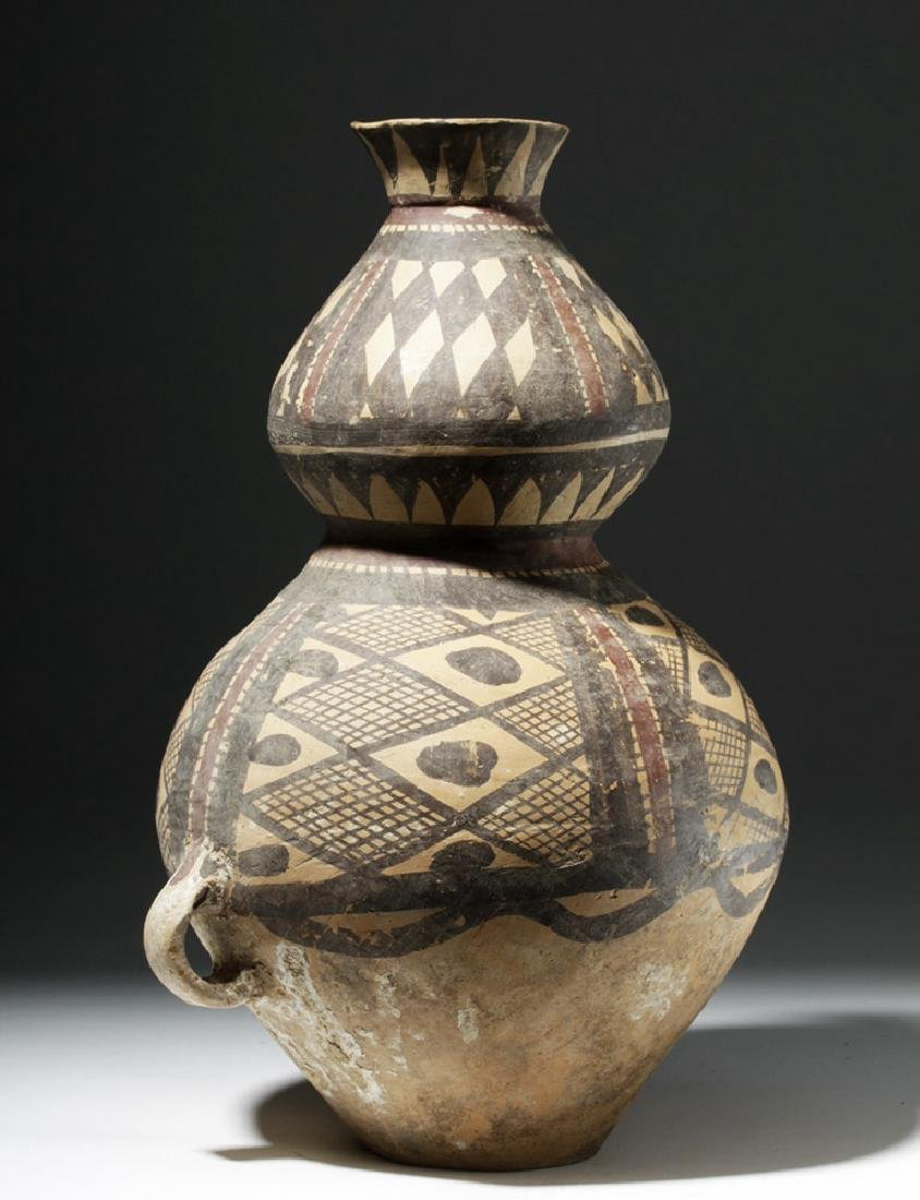 Chinese Neolithic Polychrome Vessel - Rare Form - 2