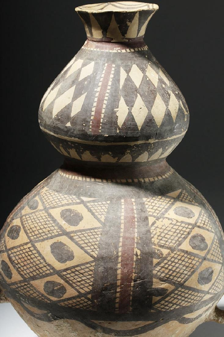 Chinese Neolithic Polychrome Vessel - Rare Form - 6