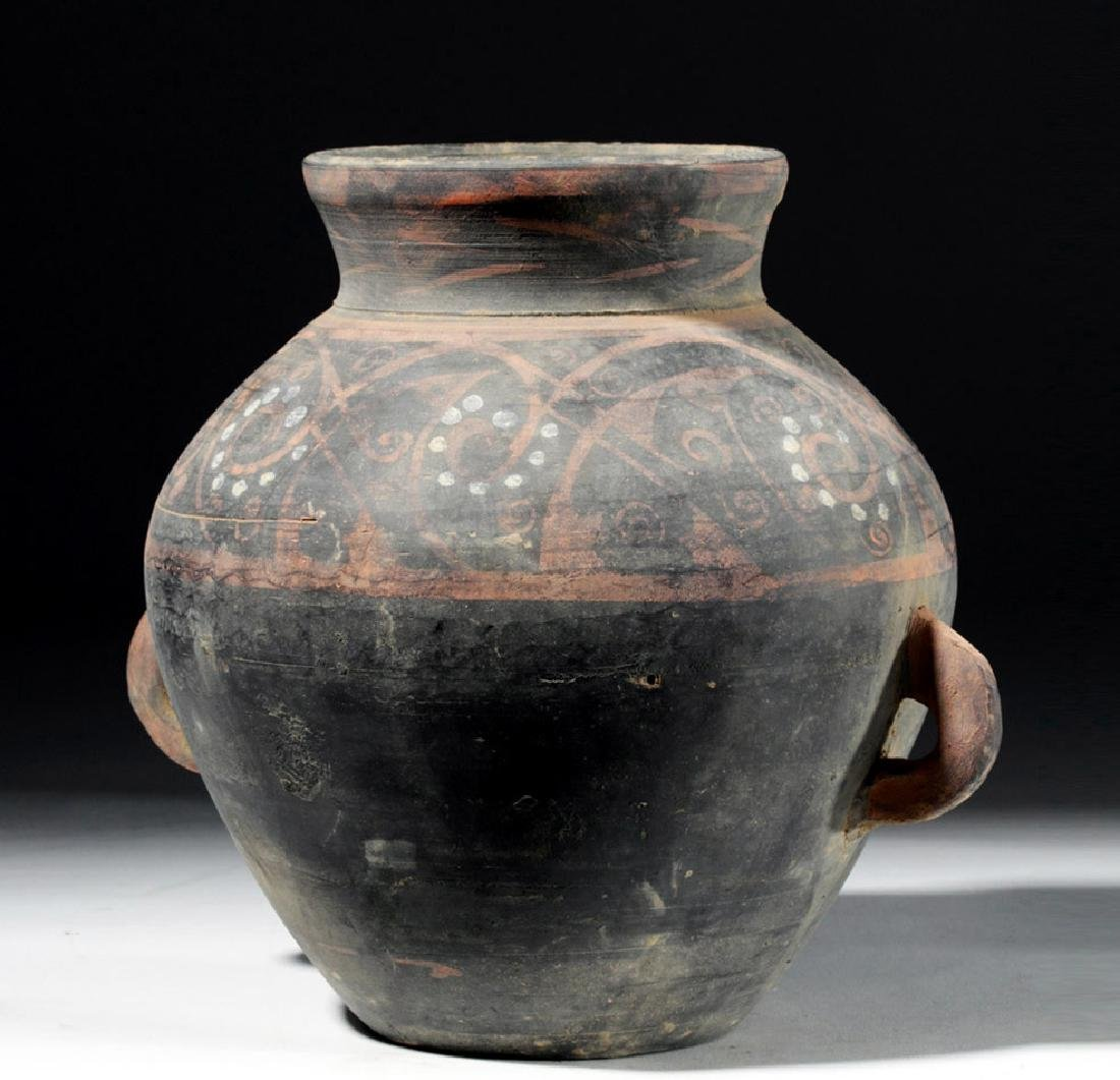 Chinese Han Dynasty Painted Grey Ware Jar