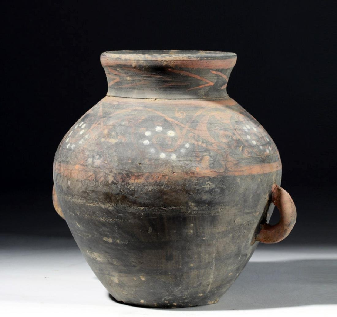 Chinese Han Dynasty Painted Grey Ware Jar - 3