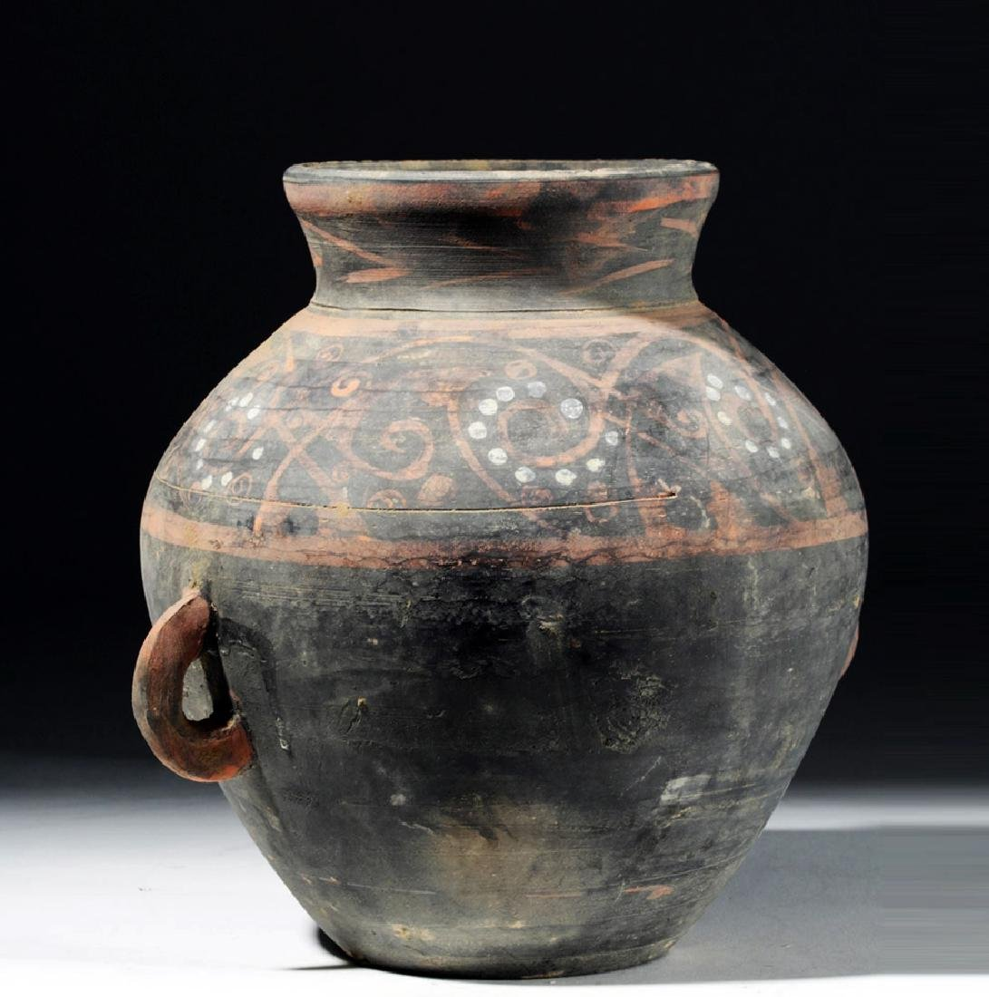 Chinese Han Dynasty Painted Grey Ware Jar - 4