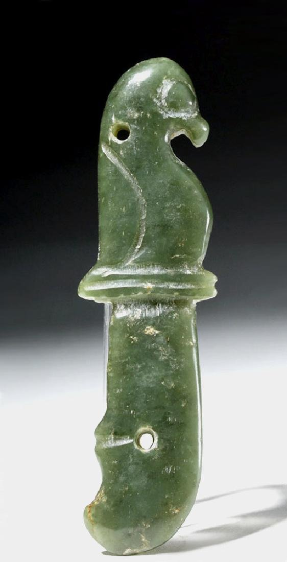 Chinese Ching Dynasty Jade Knife - Bird Form - 3