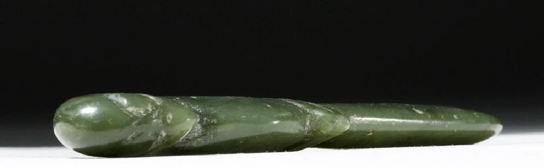 Chinese Ching Dynasty Jade Knife - Bird Form - 4