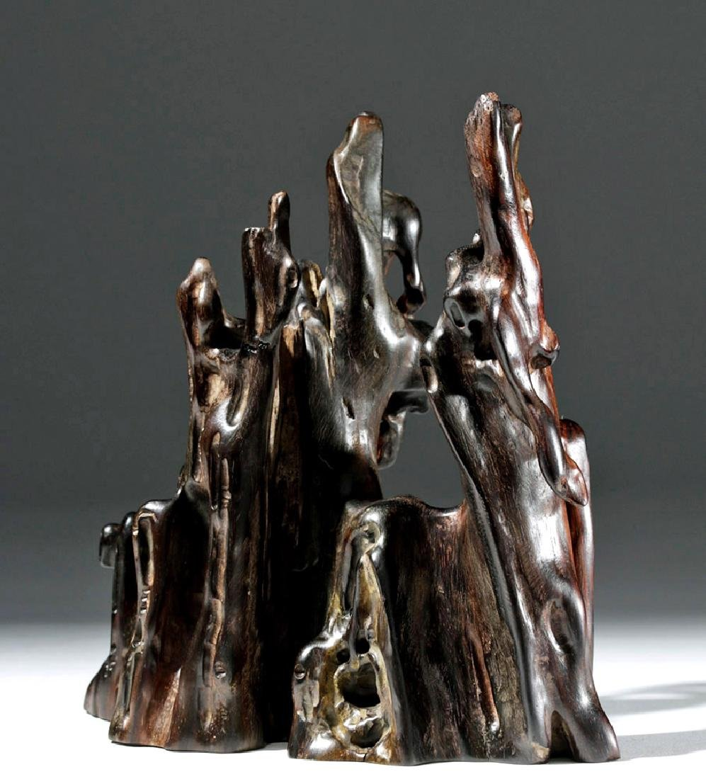 19th C. Chinese Gnarled Tree Root - Scholars Object - 2