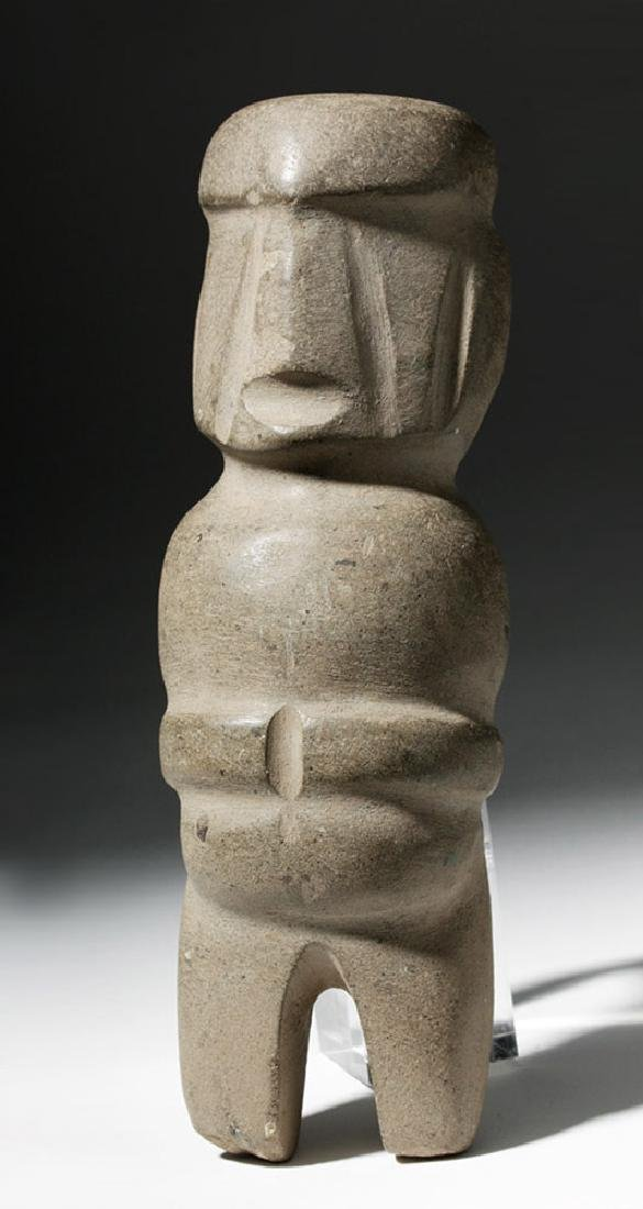 Mezcala Stone Anthropomorphic Figure - Very Tall - 4