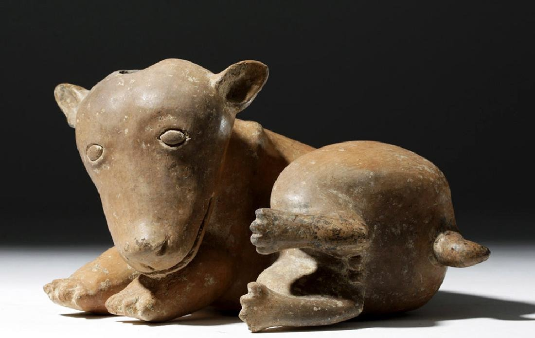 Adorable Nayarit Redware Pottery Dog