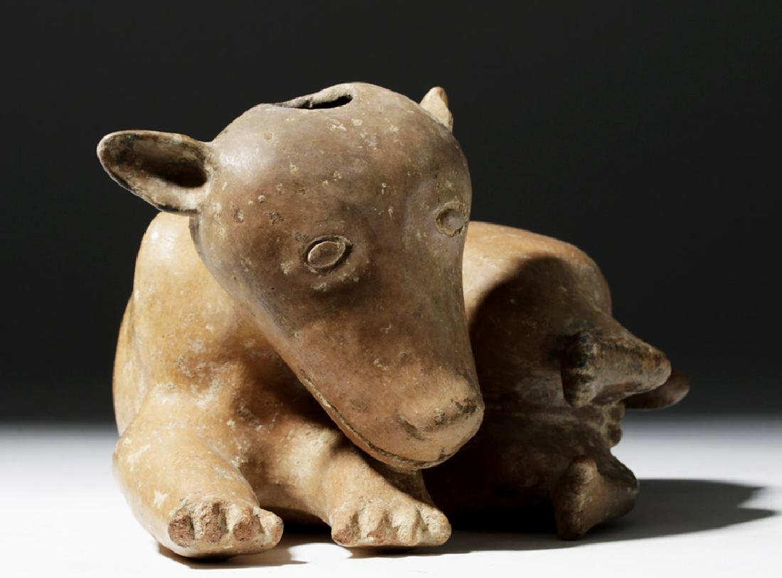Adorable Nayarit Redware Pottery Dog - 4