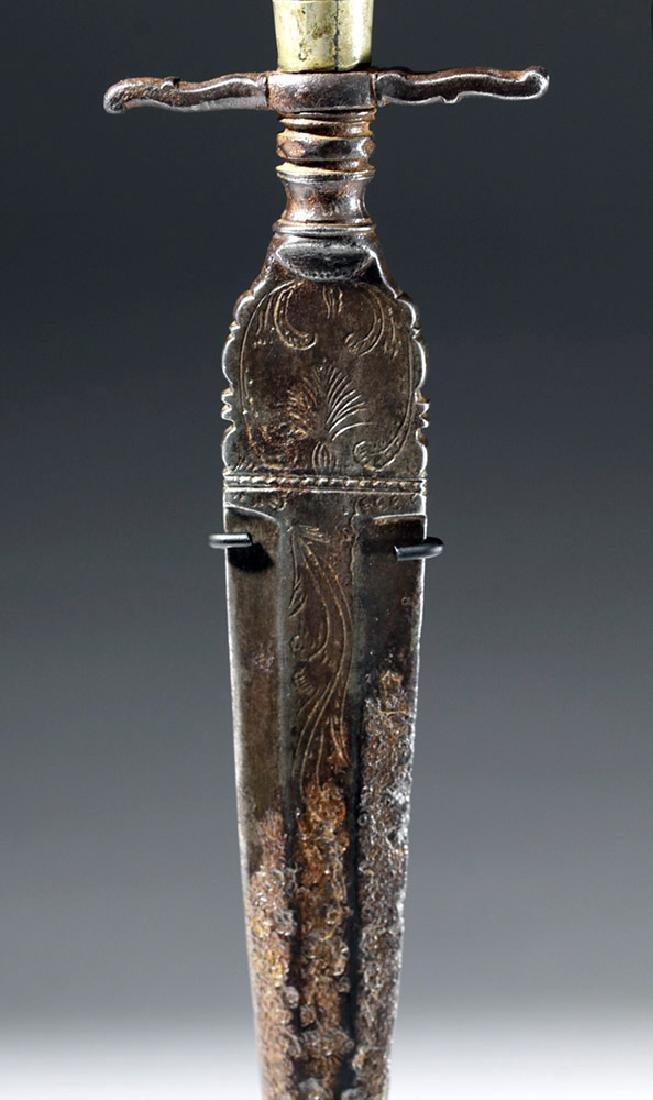 16th C. European Dagger - Amber, Steel & Horn - 6