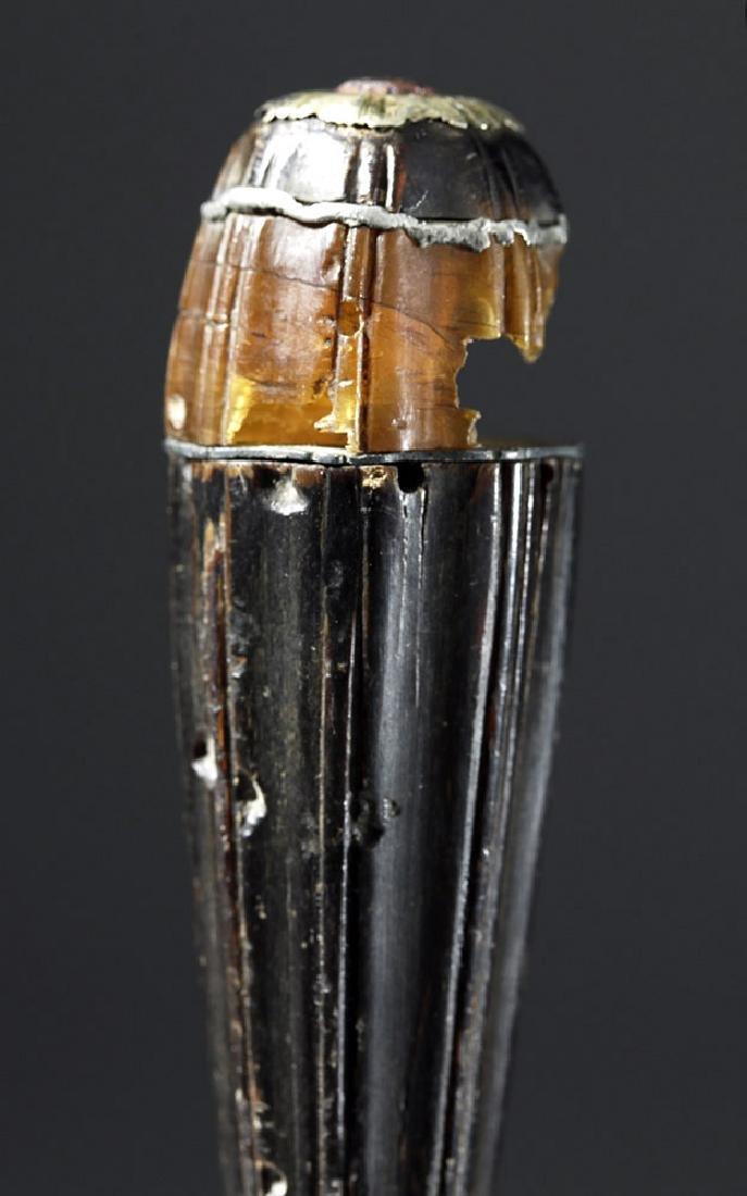16th C. European Dagger - Amber, Steel & Horn - 8