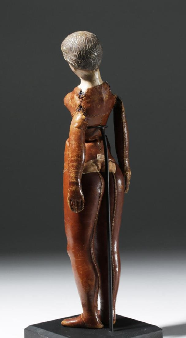 19th C. Mexican Santo w/ Leather Body - Santa Maria - 2