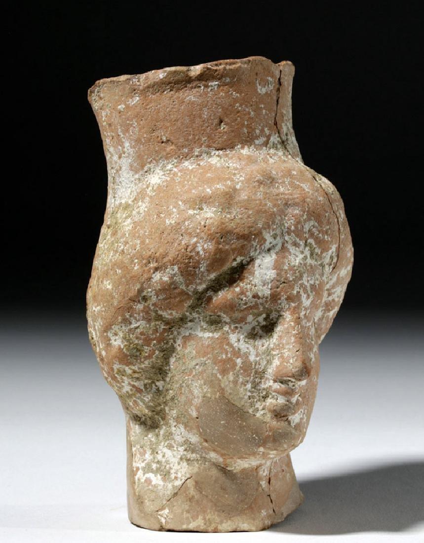 Greek Pottery Votive Bust of Goddess - 4