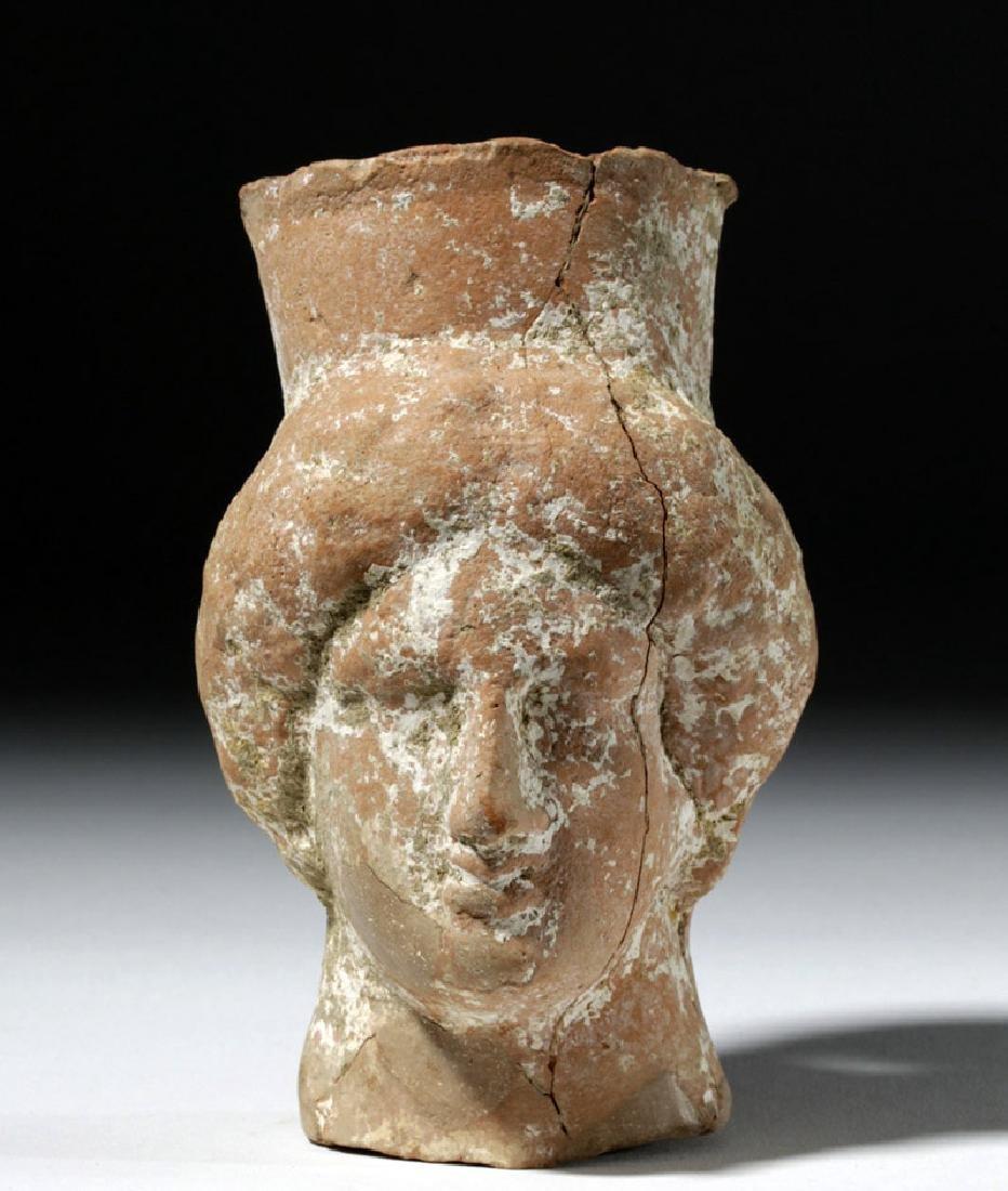 Greek Pottery Votive Bust of Goddess - 5
