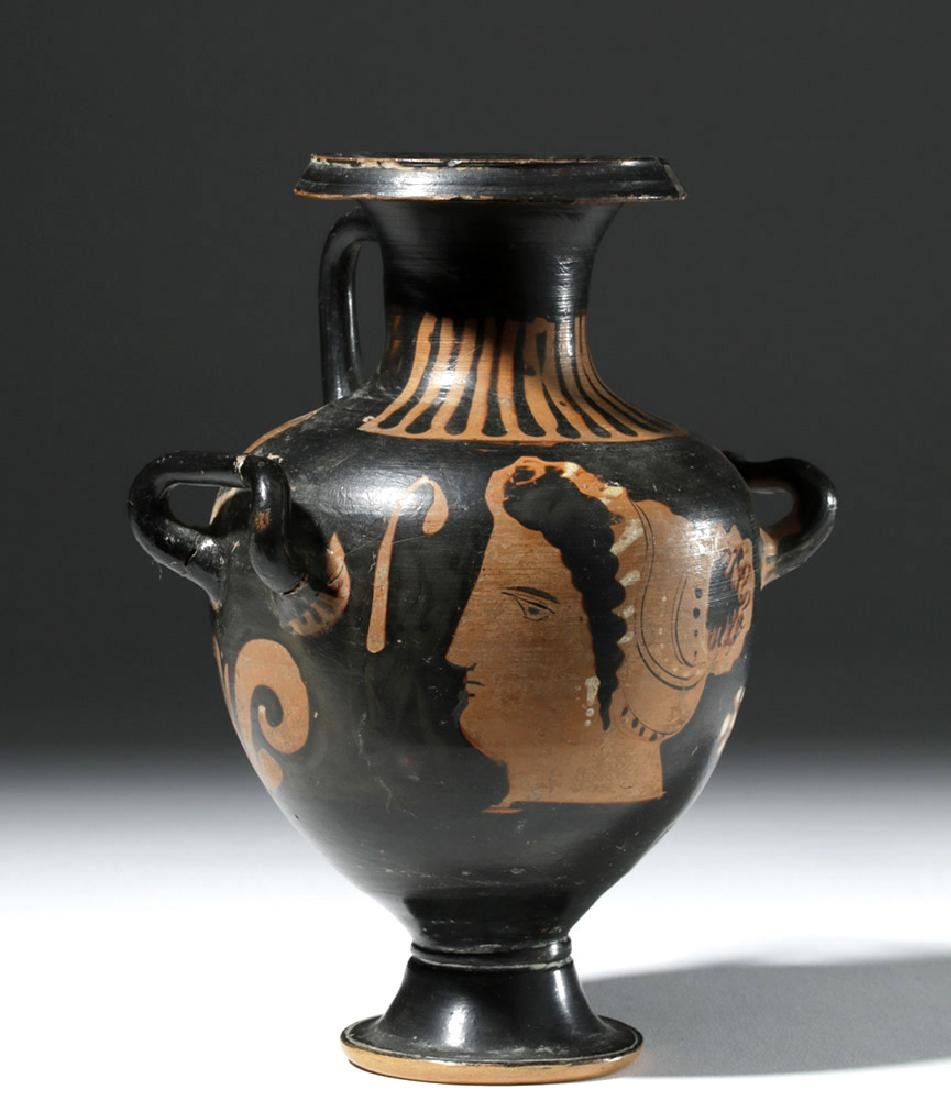 Greek Apulian Red-Figure Hydria, ex-Sotheby's