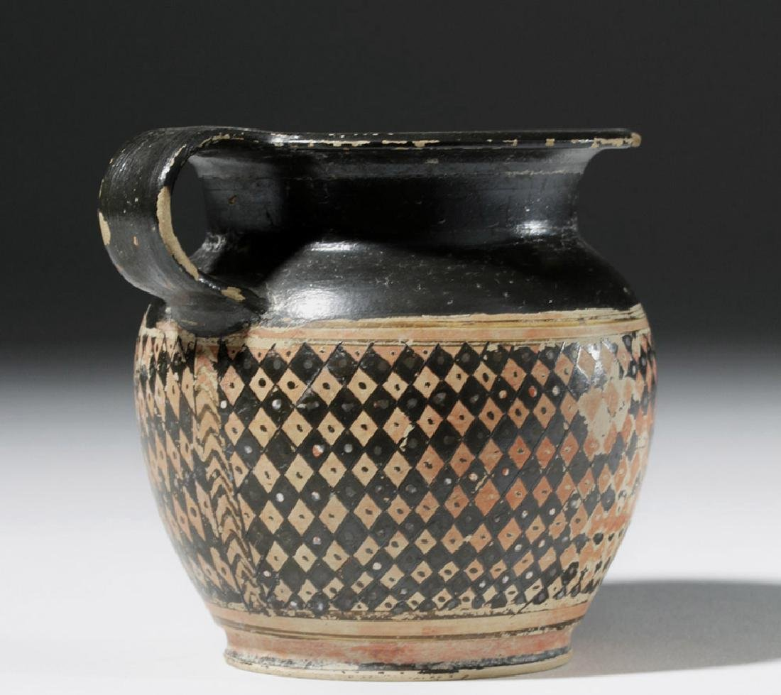 Greek Red-Figure Cup, Dotted Checkerboard, Ex Christies