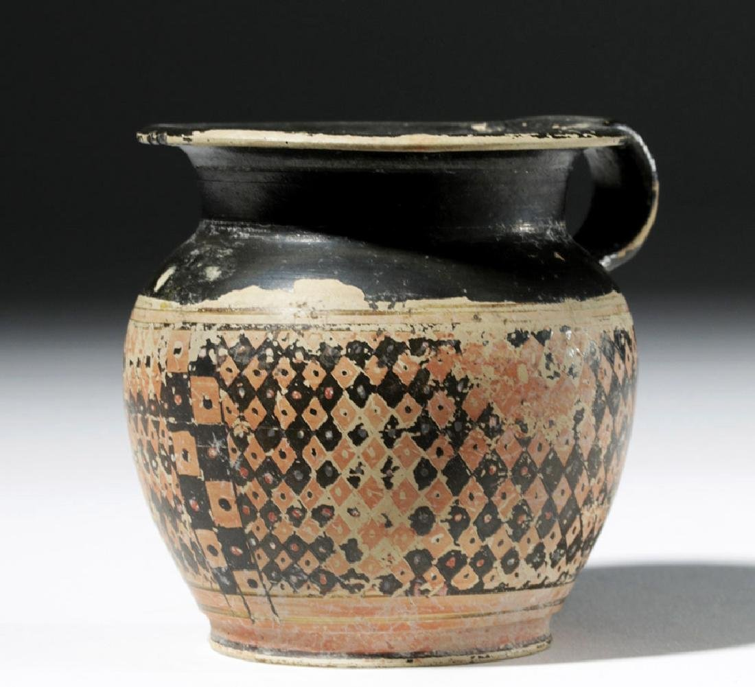 Greek Red-Figure Cup, Dotted Checkerboard, Ex Christies - 3