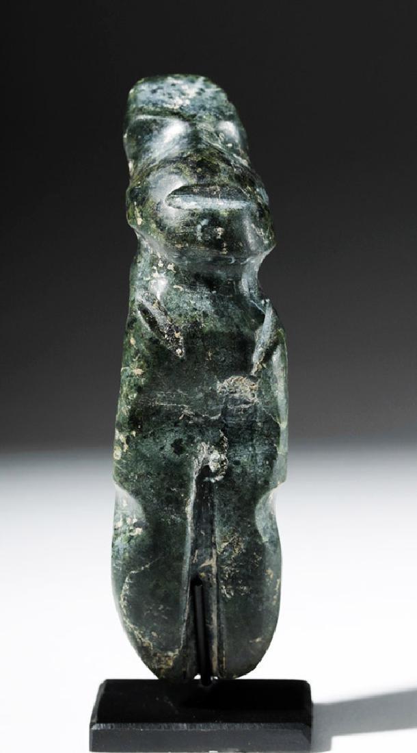 Guerrero Mezcala Greenstone Standing Figure - Rare Form - 5
