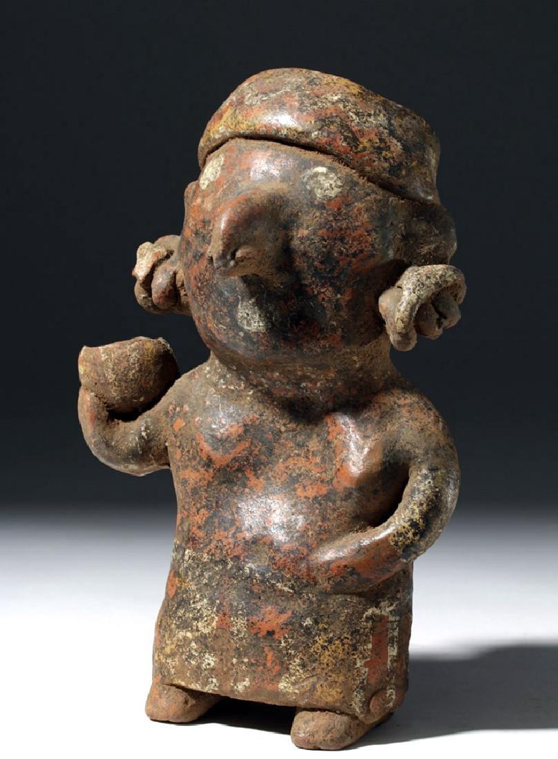 Nayarit Pottery Standing Female w/ Bowl