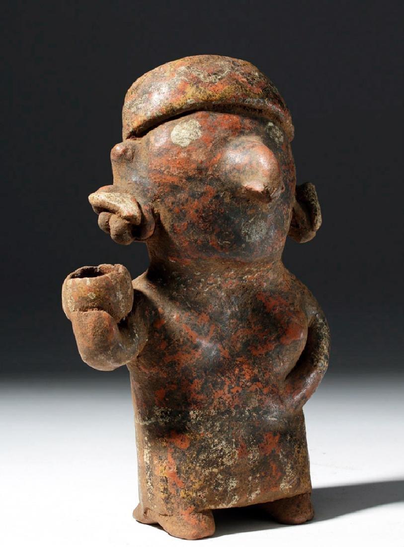 Nayarit Pottery Standing Female w/ Bowl - 4