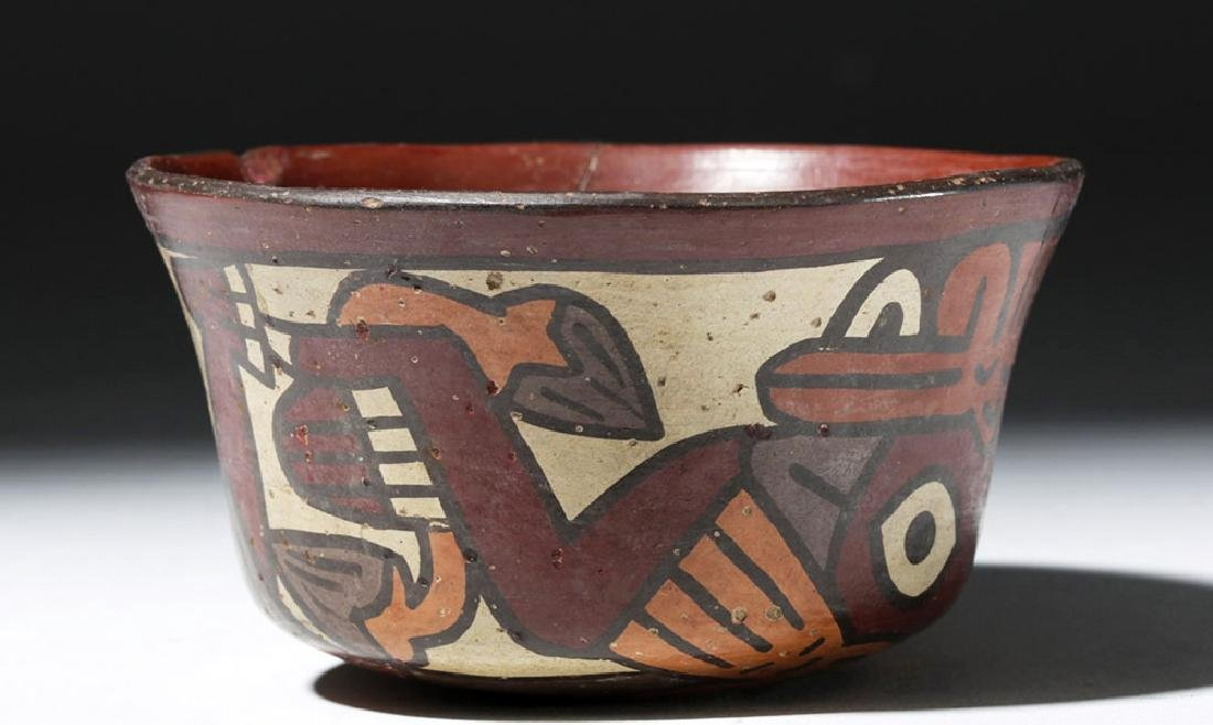 Nazca Polychrome Bowl w/ Two Faces & Trophy Heads - 4