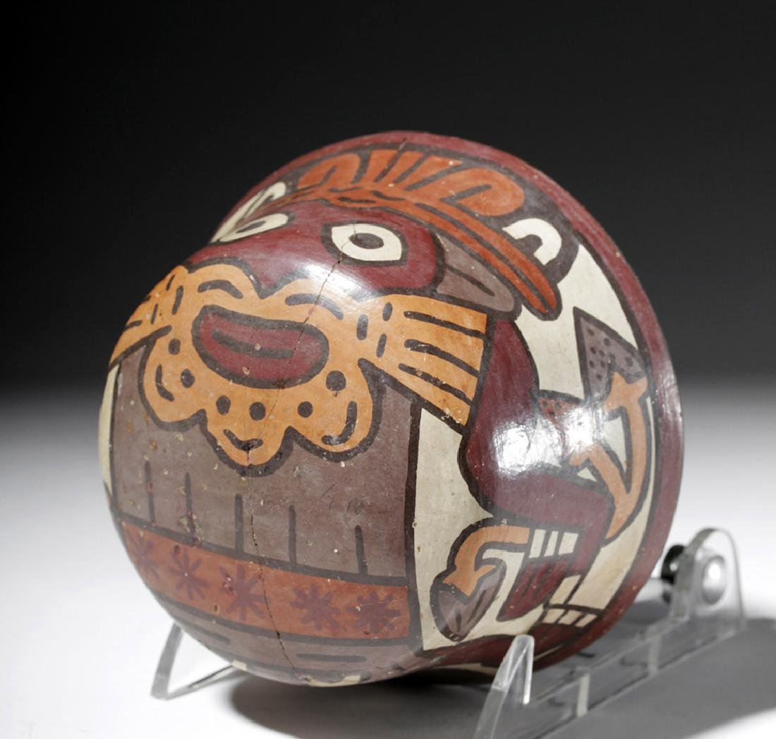 Nazca Polychrome Bowl w/ Two Faces & Trophy Heads - 6
