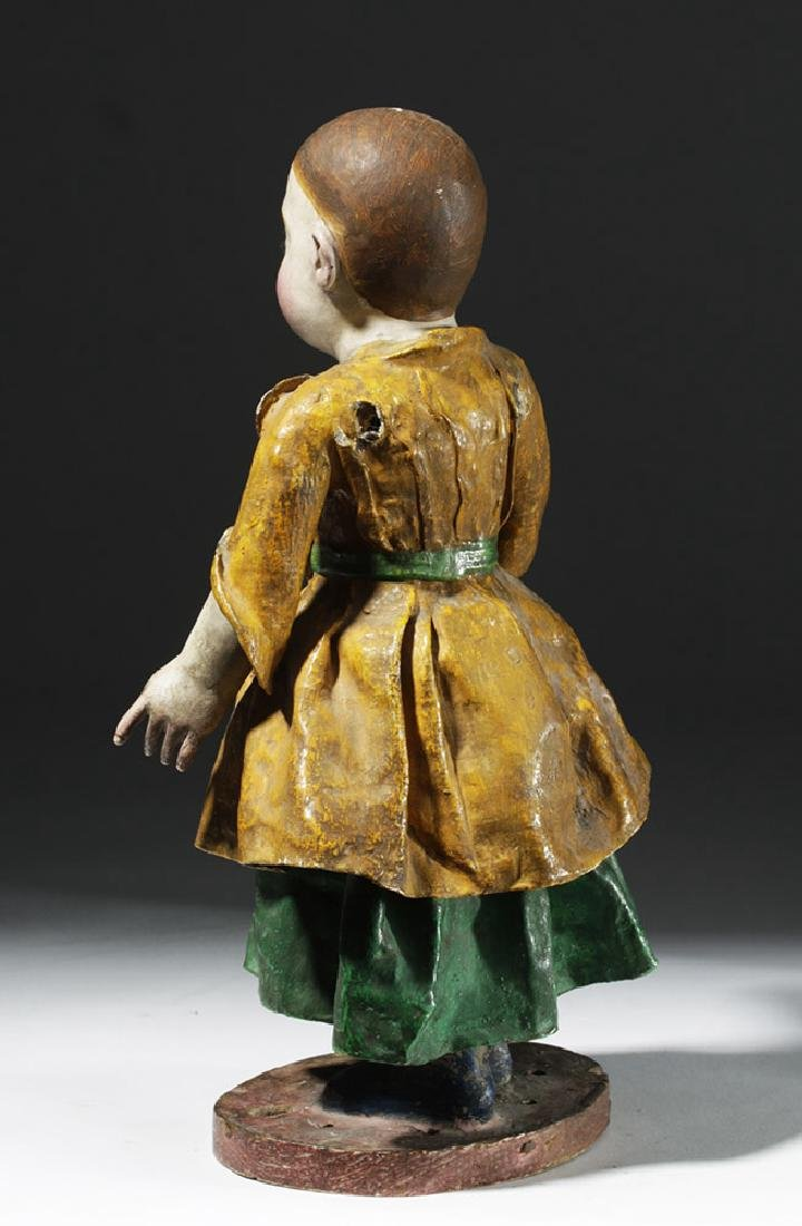 Early 19th C. Mexican Papier Mache & Plaster Nina Maria - 2