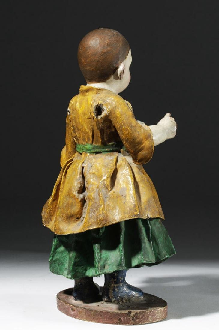 Early 19th C. Mexican Papier Mache & Plaster Nina Maria - 3