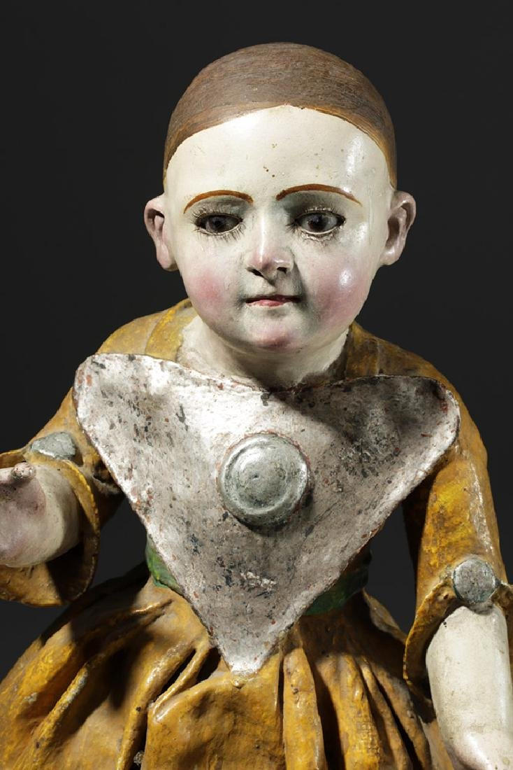 Early 19th C. Mexican Papier Mache & Plaster Nina Maria - 5