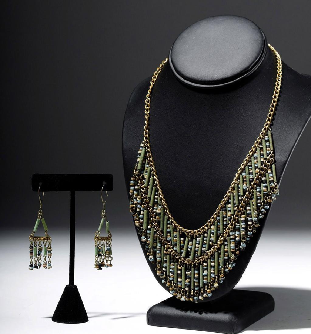 Egyptian Faience Mummy Bead Necklace, ex-Arte Primitivo