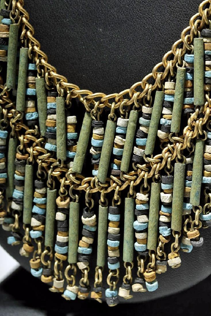 Egyptian Faience Mummy Bead Necklace, ex-Arte Primitivo - 3