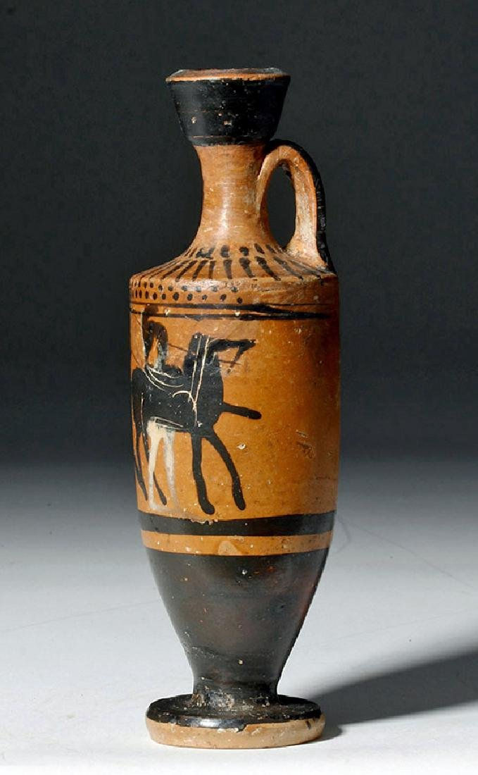 Greek Attic Black Figure Lekythos - Horse & Rider - 2