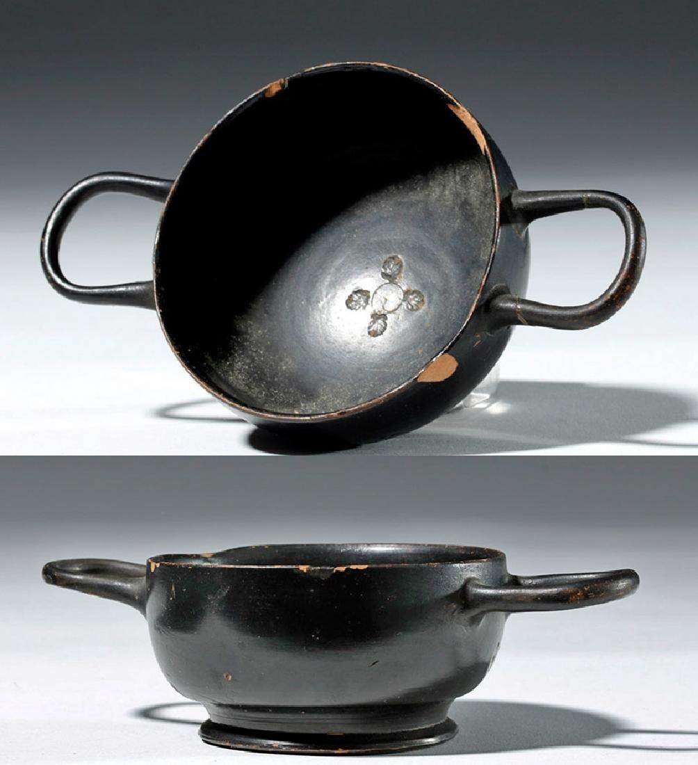 Greek Attic Blackware Kylix - Ex Sothebys